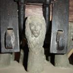 Kluane Glocke von Marling - Detail der Glockenkrone Löwenkopf
