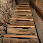 Glockenturm von Marling: Holzstiege